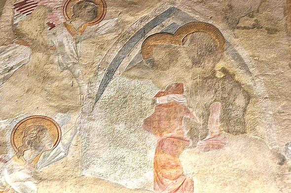 Assomption de la Vierge avec quatre anges, 1290, vue rapprochée.