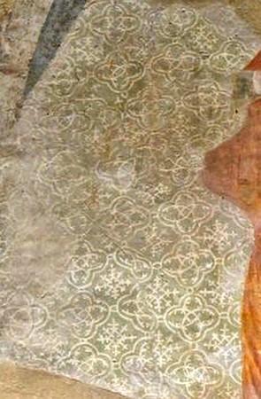 Un détail de « L'Assomption » : le manteau de la Vierge.