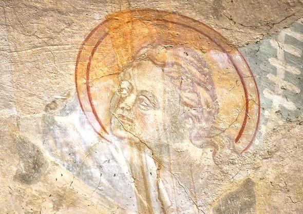 Détail de la fresque : un autre ange.