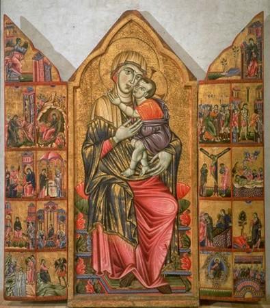 Tryptique de Perugia, Maestro del Trittico Marzolini, 1275, Galerie Nationale d'Ombrie, Perugia.