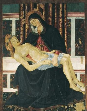 Pietà de Bartolomeo Caporali. 1486  Cathédrale San Lorenzo de Perugia (Pérouse).