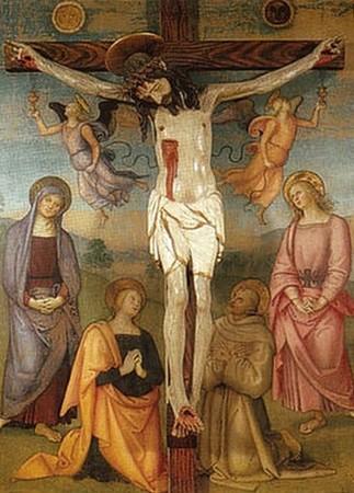 Le Pérugin. Retable de Monteripido. Huile sur bois, Galerie nationale d'Ombrie. 1502.