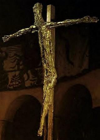Germaine Richier. Crucifix. Eglise du plateau d'Assy. 1950.