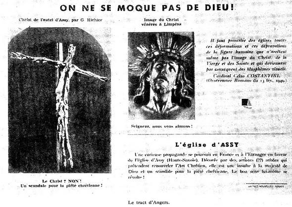 Tract d'un groupuscule « d'intégristes religieux » d'Angers.