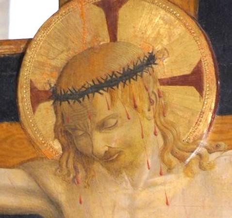Vue encore plus centrée du tableau présenté ci-dessus.  D'où une mise en évidence plus accentuée de la souffrance exprimée par le Christ.