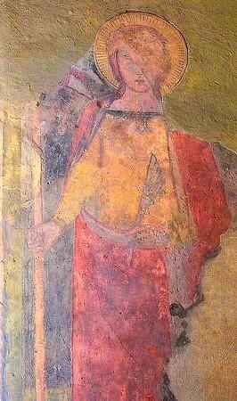 Sainte Ursule (Sant'Orsola).Couleurs ravivées.