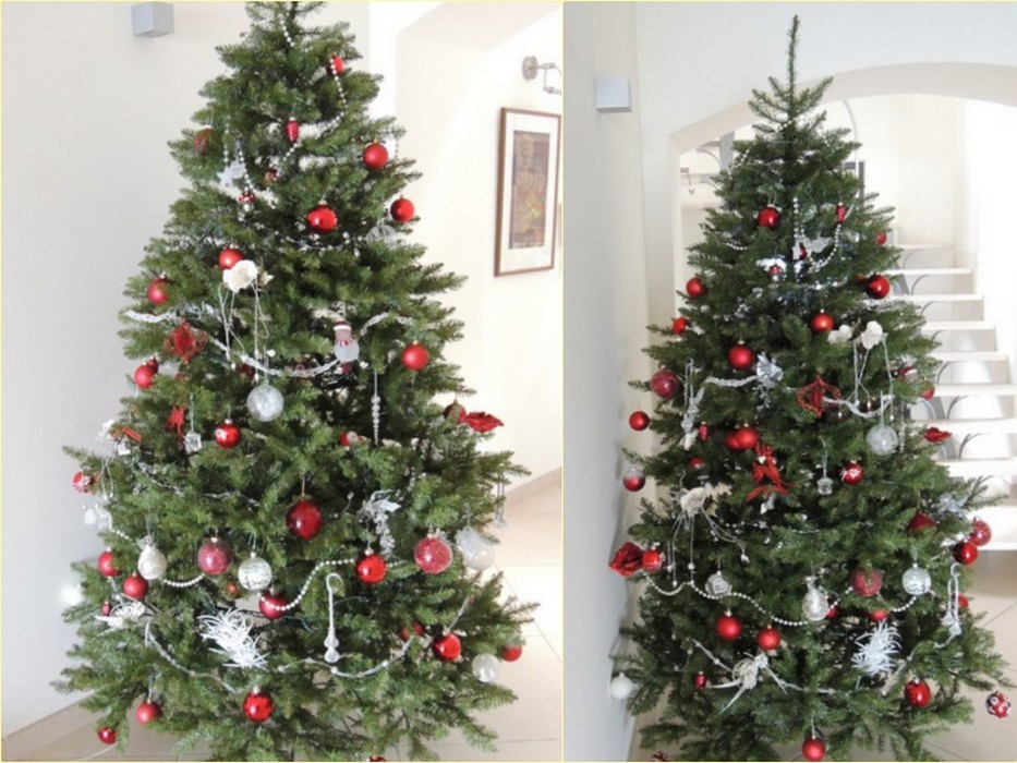 Sapin Blanc Decore Or Argent