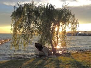 Le coucher de soleil, le silence, la musique... l'âme de l'Isola Maggiore...