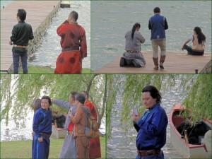 Les musiciens mongols ne résistent pas au charme du Trasimène...