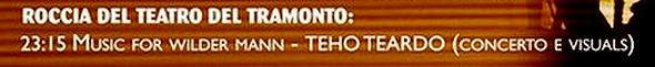 PROGRAMME 20 GIUGNO - ROCCIA DEL TEATRO TRAMONTO