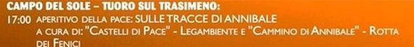 PROGRAMME 20 GIUGNO - 570 - CAMPO DEL SOLE