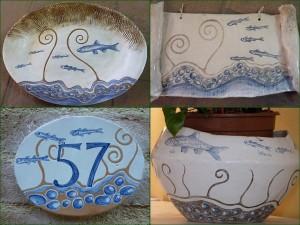 """La """"céramique de l'Isola Maggiore"""" créée par Maria Letizia Bittoni."""