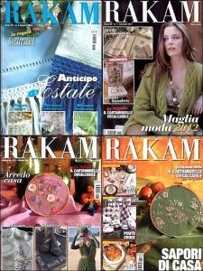 Quelques numéros de Rakam (dans le coin supérieur gauche, le numéro de juin 2013).