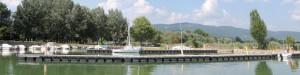 Vue panoramique des deux nouveaux embarcadères et du fond de Porto del Sole.