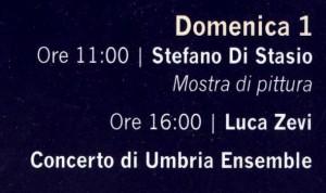 Programma di domenica 1 settembre 2013.