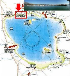 Localisation du Porto del Sole à Tuoro-Navaccia.