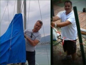 A gauche, Ettore Bellaveglia et, à droite, Mario Forlani.