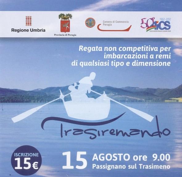 Affiche de la régate pour barques à rames, la Trasiremando, deuxième édition, 2013.