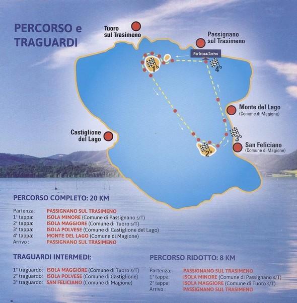 Carte avec le parcours standard, ainsi que les étapes intermédiaires en fonction des parcours.