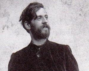 Le peintre et céramiste Galileo CHINI, 1873-1956.