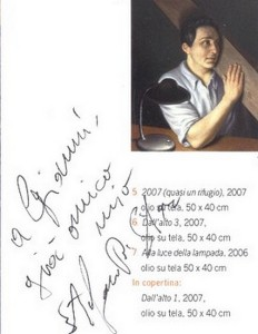 Autographe et très gentille dédicace remis à l'auteur de cet article par Stefano Di Stasio.