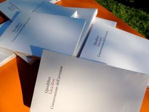 """Il libro """"Conservazione dell'avvenire"""" da Luca Zevi, Quodlibet, 2011."""