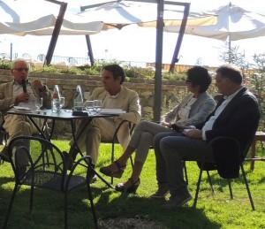 Da sinistra a destra : Anton Carlo Ponti, Luca Zevi, Giovanna Signorini e Paolo Belardi.