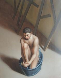 La stanza di là, 2006   -   Huile sur toile, 50 x 40 cm.