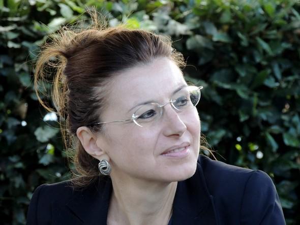 Stefania Limiti nel giardino del'Antico Orologio (Isola Maggiore)   -   14/09/2013