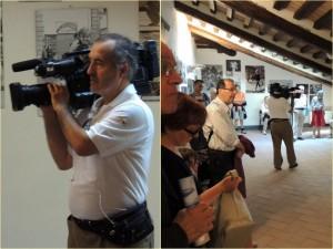 Claudio Burani, giornalista freelance (RAI, TRASIMENO LIVE), in piena azione.