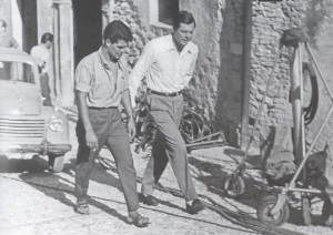 Marcello Mastroianni, attore  (1924-1996)  -  Spoleto, agosto 1961.