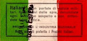 19 juillet 1915 - les consignes de prudence pré-imprimés sur la carte postale.
