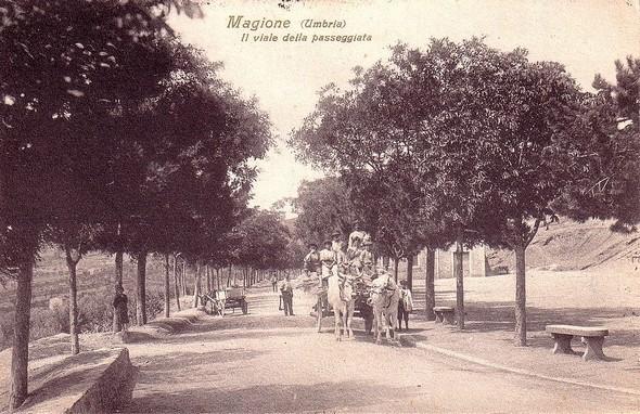 19 juillet 1915 - Magione, il viale della passegiata.