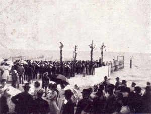 1904   -   Inauguration du pontile de Passignano sul Trasimeno.