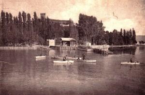1946 - L'ancien embarcadère à Castiglione del Lago.