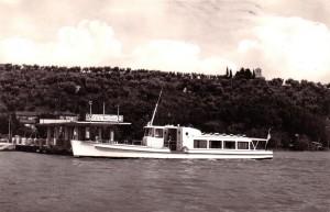 1962 - Nouvel appontement de l'Isola Maggiore.