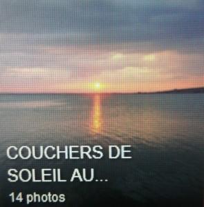 Deuxième album :  couchers de soleil sur le lac Trasimène.