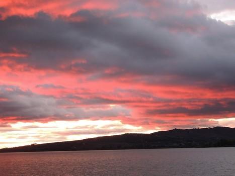 Sanglant crépuscule au lac Trasimène .