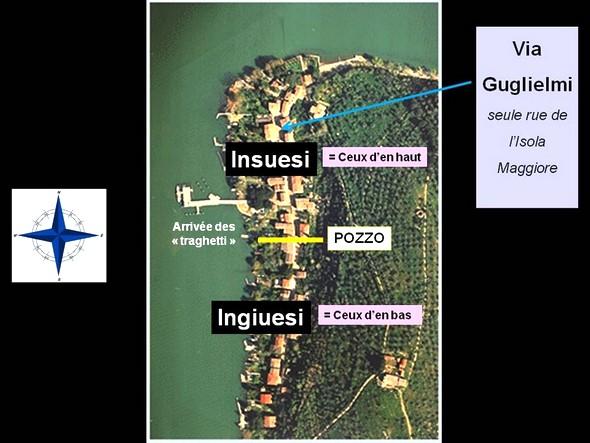 """A l'occasion de la fête de Corpus Cristi, les habitants de l'Isola Maggiore étaient divisés en deux """"rione"""" (quartier)."""