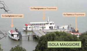Sabato e domenica, dove prendere uno traghetto per Isola Maggiore.