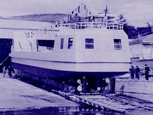 1973 - Mise à l'eau de Grifone.