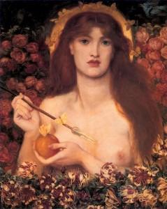 Vénus selon le peintre pré-raphaélite italien Dante Gabriel Rossetti (1828-1882).
