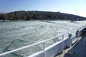 """Retour à l'I²sola Maggiore à travers la glace grâce au """"Grifone"""" - 16/02/2012, 12:15"""