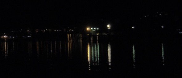 Alcune luci notturne dell'Isola Maggiore.