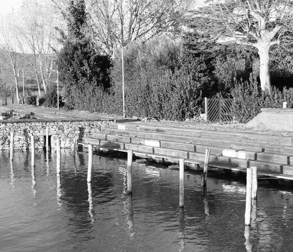 Plus de barques amarrées - Non ci sono più delle barche ormeggiate.