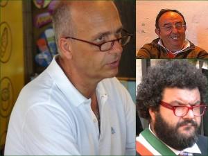 A sinistra, il dottore Mario Bocerani, sindaco di Tuoro-sul-Trasimeno, Su a destra, il signore Giuseppe Cecchini, assessore dei lavori pubblichi. Ju a destra, il signore Lorenzo Borgia, assessore del turismo et della cultura.
