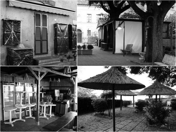 """Négoces, bar """"Il Molo"""" et sa terrasse fermés - Tutto chiuso : negozio, bar """"Il Molo"""" e la sua bella terrazza."""