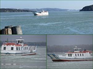 """Le """"Grifone"""" cordon ombilical essentiel en cas de glaciation du lac Trasimène - Mi-février 2012."""
