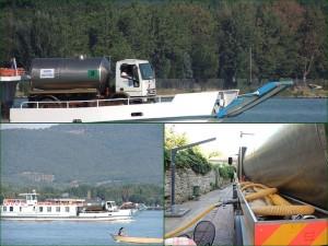 """En août 2013, le """"Grifone dut amener une à deux fois par jour un camion-citerne avec 10.000 litres d'eau !"""