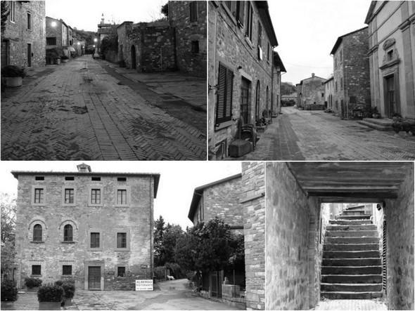 La via Guglielmi et ses petits passages totalement dépeuplés - Via Guglielmi e suoi piccoli passaggi totalmente spopolati.